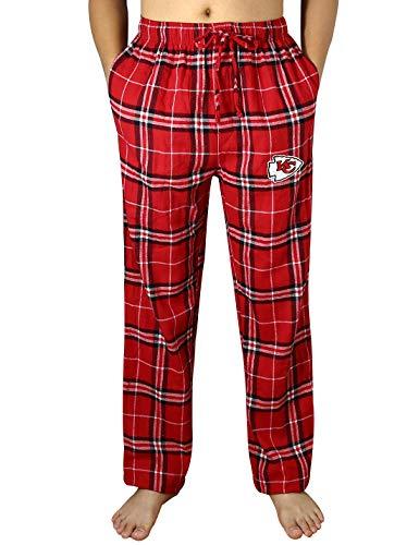 Mens KC Chiefs Winter Plaid Pajama/Sleepwear Pants - Multicolor Size - City Kansas Pajamas Chiefs