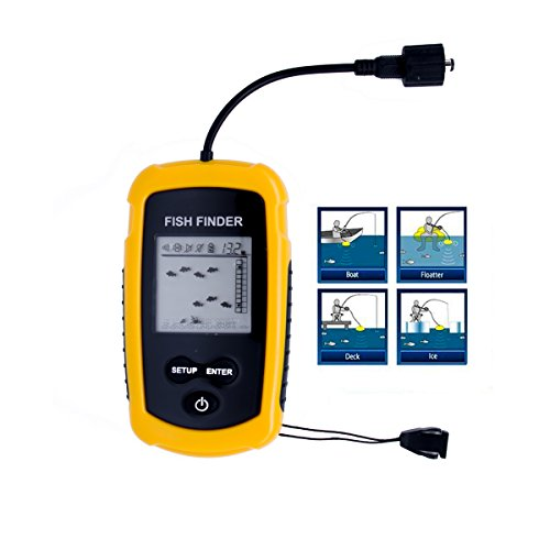 Venterior portable wired fish finder lcd display sonar for Portable fish finder reviews