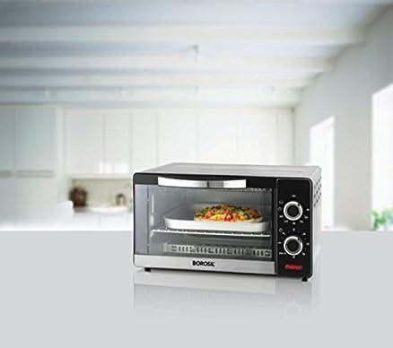 Borosil Prima 10 Liter 1000 Watt Convection Oven Toaster Griller OTG Shiny Silver