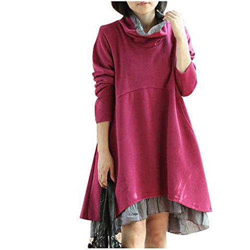 足首防腐剤コンバーチブルスプライシングソリッドカラーのドレス