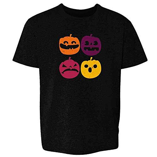 (Vintage Pumpkin JackoLantern Funny Halloween Black XS Youth Kids T-Shirt )