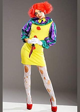 Disfraz de Payaso de Halloween para Mujer Disfraz de Payaso de ...