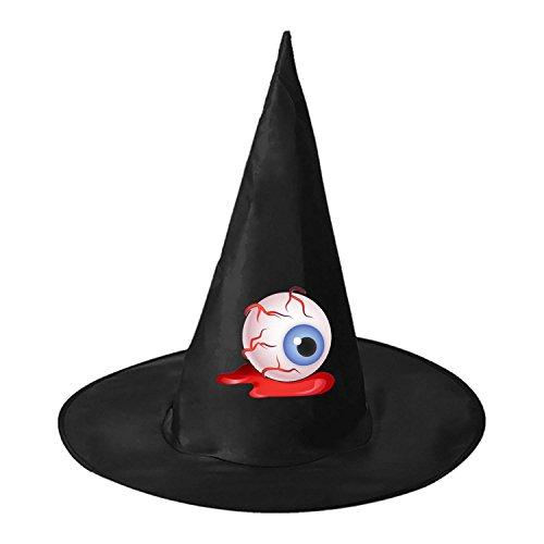 Thriller Costume Diy (Thriller Eye DIY Unisex Halloween Toys Black Witch Hats Costume Party Cosplay Cap For Women Men Boys)