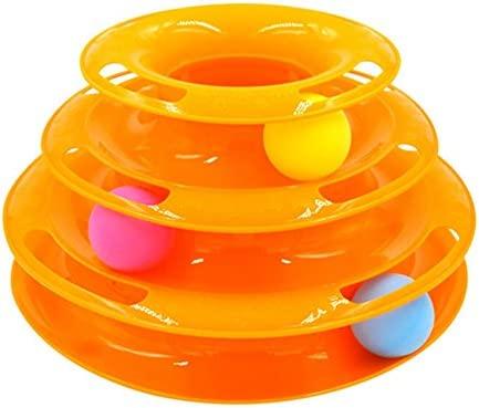 Alftek 3 capas divertido juguete de gato Crazy Ball disco ...