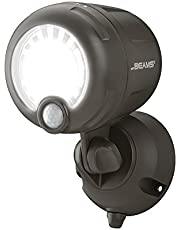 Save on Mr. Beams Wireless Battery-Operated Outdoor Motion-Sensor-Activated LED Spotlight, Plastic, Brown, 200 lm and more