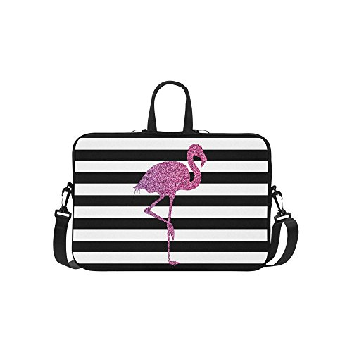 glitter flamingo animal laptop sleeve