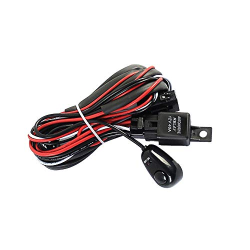Raitron Professional Wiring Harness Kit Loom For LED Work Driving Light Bar With Fuse Relay 12V 40A: Amazon.co.uk: Kitchen & Home