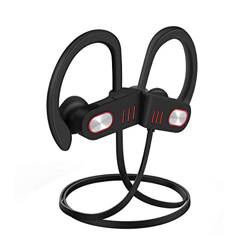 Bluetooth Headphones Wireless in-Ear Headphone Noise Cancelling Sports Earphones Handfree HD Stereo Headsets Lightweight Earbuds Sweatproof Ergonomic for Gym Workout (18g, 8hrs Play)