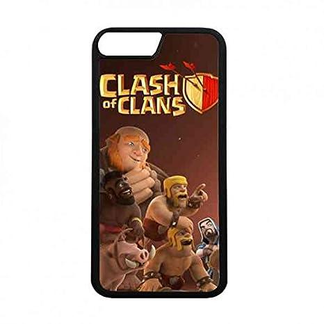 Apple Iphone 7 Hülle Coc Clash Of Clans Logo Hülle Handytasche