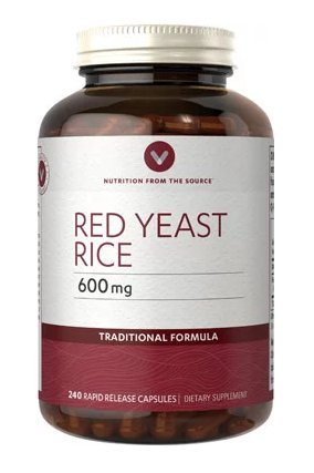 Vitamin World Red Yeast Rice 600 mg Traditional Formula 240 rapid release capsules