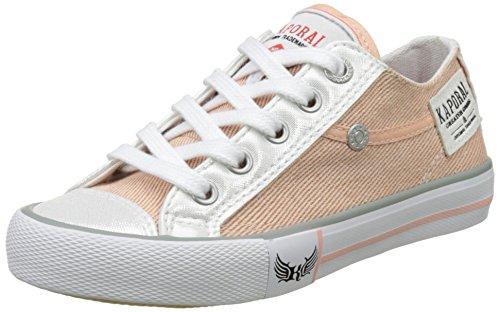 KaporalIcario - botas de caño bajo Unisex Niños Rose (Rose Paillette)