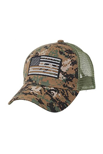 ch Tactical Style Mesh Trucker Baseball Cap Hat (One Size, Olive Camo) ()