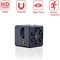 Yilutong Mini Hidden Spy Camera 1080P Indoor Outdoor Pocket Security Camera Nanny Cam with Night Vision Motion Detection Micro SD Card Slot