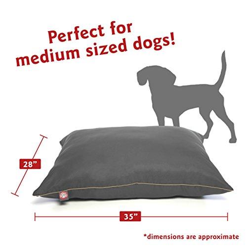 """Majestic Pet Super Value Medium Pet Dog Bed, 28"""" x 35"""", Gray, Gray"""