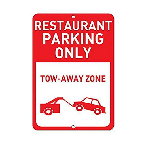 Dozili Restaurant Parking Only Tow Away Zone Parking Sign Metal Sign Wall Decor 8