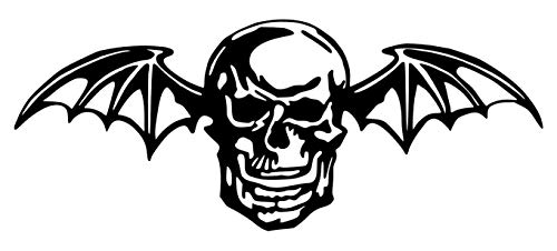 Avenged Sevenfold Deathbat [Pick Any Color] Vinyl Transfer Sticker Decal for Laptop/Car/Truck/Window/Bumper (Small (6in x 2.4in), - Sevenfold Wings Avenged