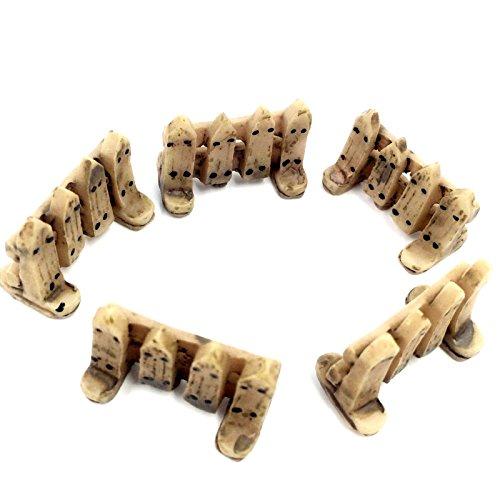 FUNSHOWCASE ジオラマ キット おもちゃ フェンス 木製 褐色 手作り ミニチュア インテリア ドールハウスキット ハンドメイド フィギュア 5個付