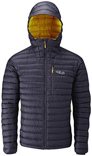 Rab Microlight Alpine Jacket - Men's Steel/Dijon Medium
