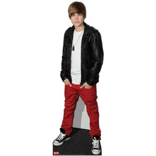 Justin Bieber Leather Jacket 169cms Lifesize Cardboard Cutout