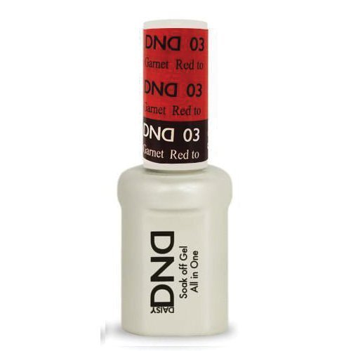 DND Daisy Soak Off Gel Mood Change - Red to Garnet 03