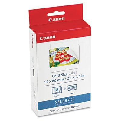 Canon 7741A001 7741A001 (KC-18IF) Ink & Label Set, for sale  Delivered anywhere in USA