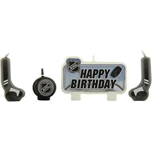 Review Sports and Tailgating NHL Party NHL Ice Time! Birthday Candle Set Decoration, Wax, 2″ x 3″, Pack of 4