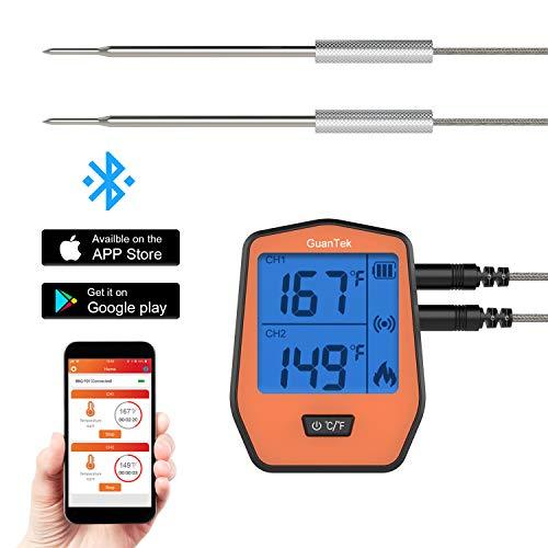 - GuanTek PACA6b digital thermometer, Small, Light orange