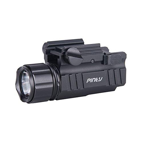Pinty P10S LED Strobe Flashlight 200 Lumen w/ Sliding on/off Switch & Weaver Quick Release Black
