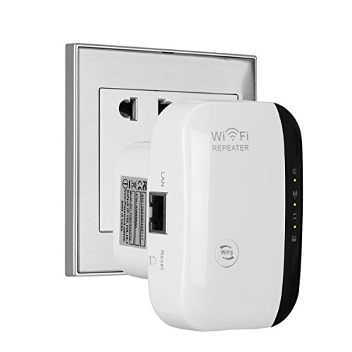WIFI Extender, SERMICLE Wireless WIFI Booster WIFI Range Extender Antenna Wifi Signal AP/Repeater with Long Range Extender Integrated Antenna ,RJ45 Port, WPS Dual Band 300Mbps (300Mbps, White)