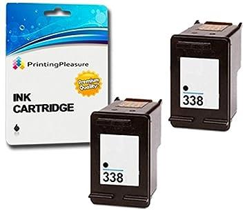 Printing Pleasure 2 Compatibles HP 338 Cartuchos de Tinta para ...
