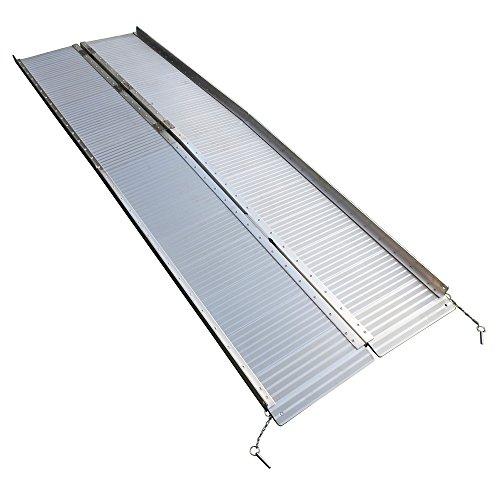 8 Ft Home Corridor Aluminum Alloy Folding Ramp Silver Hot