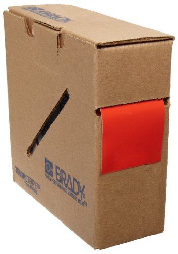 Aisle Tape Marking Red (Brady ToughStripe Nonabrasive Floor Marking Tape, 100' Length, 2