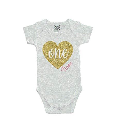Personalized/Custom First Birthday One Bodysuit Size 12mo ()