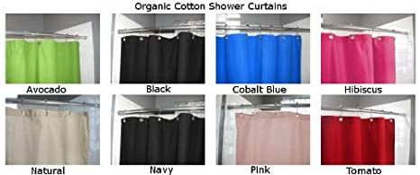 Amazon.com: Organic Cotton Shower Curtain   Cobalt Blue By Bean Products:  Home U0026 Kitchen