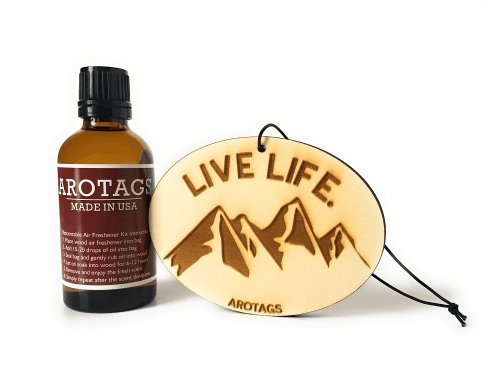 Arotags Wooden Car Diffuser Air Freshener With Fragrance Oil. Lasts 365+ Days. 100% Made In U.S.A.