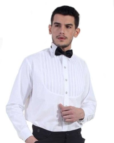 Victorian Era Mens Costumes - Steampunk White Classic Victorian Men's Shirt, Size X-Large