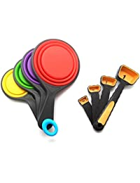Acquisition 8-piece Set, Collapsible Silicone Measuring Cups and Measuring Spoon Set - BPA Free reviews
