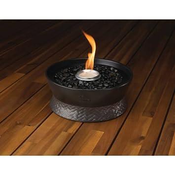 Elegant TIKI Brand Clean Burn Large Tabletop Fire Pit, RoundWick Burner System