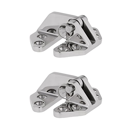 (MonkeyJack Pack of 2 Pieces Heavy Duty Marine Grade 316 Stainless Steel Boat Hatch Locker Hinge with Removable Pin 2.7 x 2.56 x 1.18