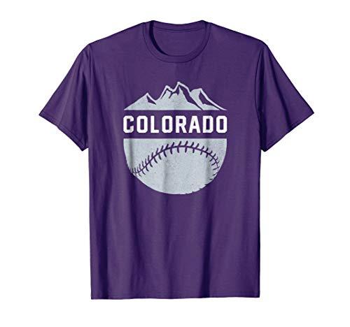 Vintage Denver Colorado Wilderness Skyline Baseball - Classic Shirt Rockies Colorado