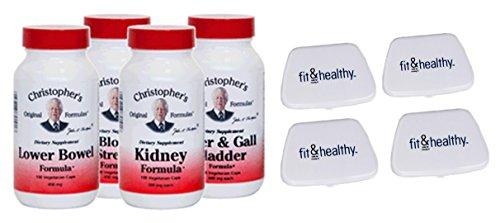 Christopher's Original Formulas Herbal Cleansing Capsule Kit in Bundle with 4 Fit & Healthy Pocket Pill Packs by Christopher's Original Formulas and Fit & Healthy