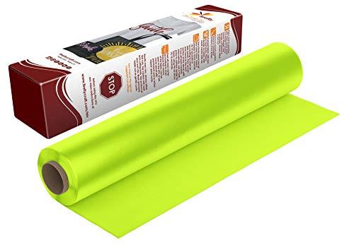 Firefly Craft Neon Yellow Heat Transfer Vinyl | Fluorescent Yellow HTV Vinyl | Bright Yellow Iron On Vinyl for Cricut and Silhouette | Heat Press Vinyl for Shirts - 12 x 20