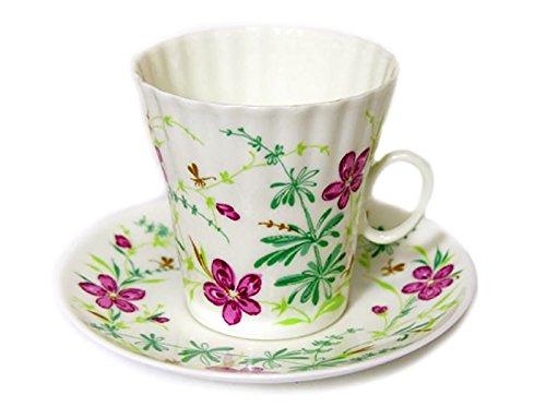 Lomonosov Porcelain Bone China Cup and Saucer Spring Flower 3 Inch