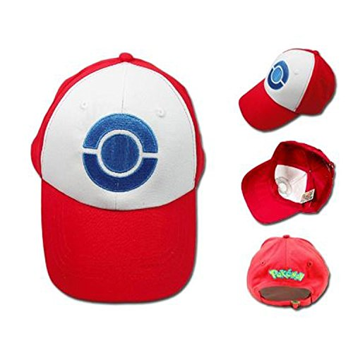 Ash Ketchum Hat Cap Three Caps Set for Cosplay