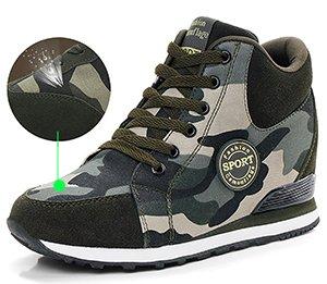 Odema Donna Camouflage Scarpe Tacco Alto Verde Militare Altezza Aumento Scarpe Mimetiche