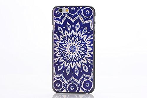 Apple iPhone 6 Plus 5.5 HARD bumper BLUE MANDALA design case coque housse smartphone Flip bag Cover Bumper smartphone protection thematys®
