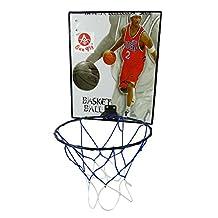 Sun Fly Wall Mount Kids Indoor/Outdoor Basketball Hoop Backboard Net Set-10 Inches Diameter Ring