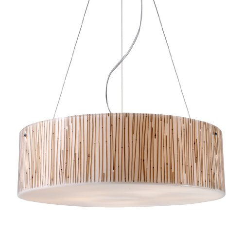 Elk 19063/5 Modern Organics-5-Light Pendant In Bamboo Stem Material In Polished (Bamboo Stem Material)