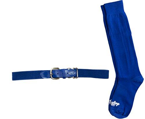 Rawlings BLTSOCKS-Blue Baseball Belt & Sock Combo (Youth Small/Blue)