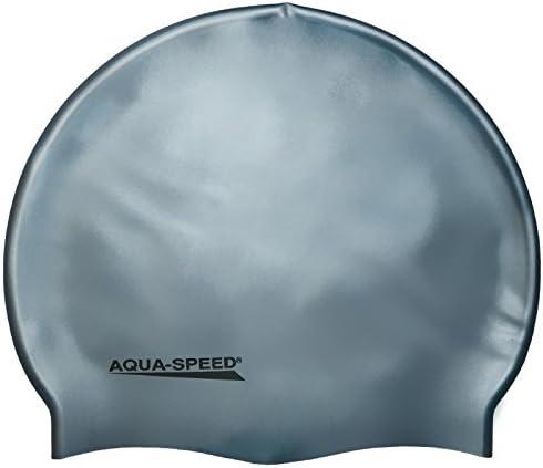AQUA-SPEED/® Mega silicone Bonnet de bain casquette Mega rot 31